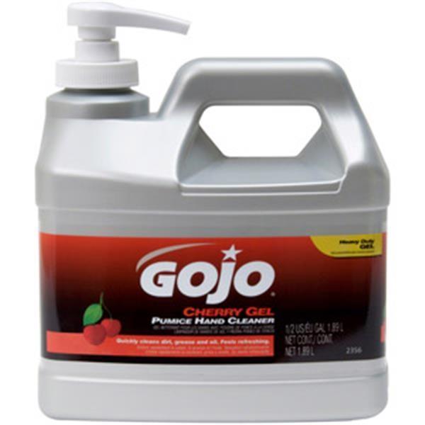 Gojo® Cherry Gel Pumice Hand Cleaner, 0.5 gal Pump Bottle