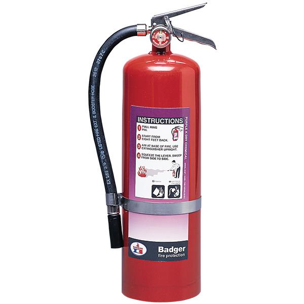 "Badgerâ""¢ Extra 10 lb Purple K Fire Extinguisher w/ Wall Hook"
