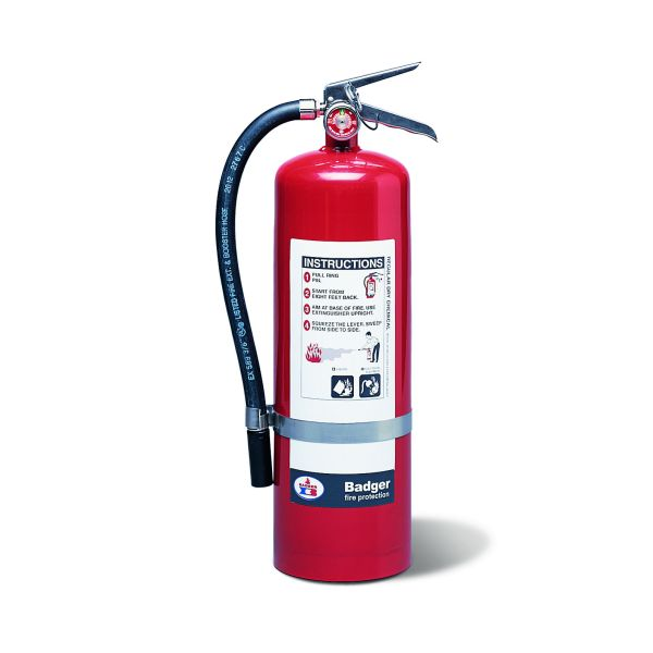 "Badgerâ""¢ Extra 10 lb BC Fire Extinguisher w/ Wall Hook"