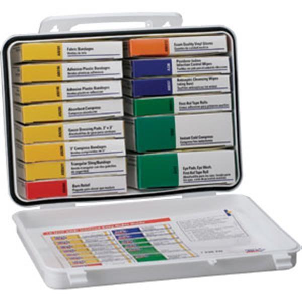 16-Unit, 103-Piece Unitized First Aid Kit w/ Gasket, Plastic