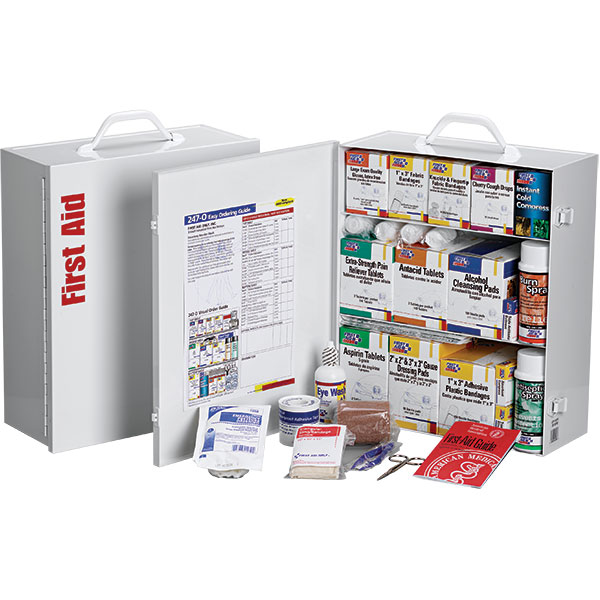 "3-Shelf, 100-Person First Aid Station w/o 12-Pocket Liner, 15""L x 16 1/2""H x 5 1/2""W"