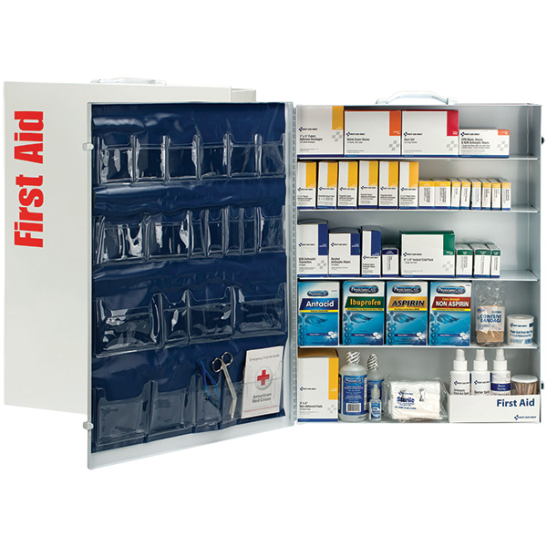 5-Shelf, 200-Person First Aid Station w/ 22-Pocket Liner