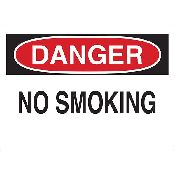 "Brady® ""Danger No Smoking"" Sign, 10"" x 14"""