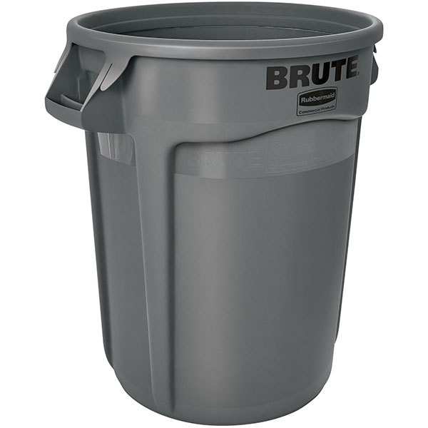 Rubbermaid® Brute® Utility Waste Container, 32 gal, Gray