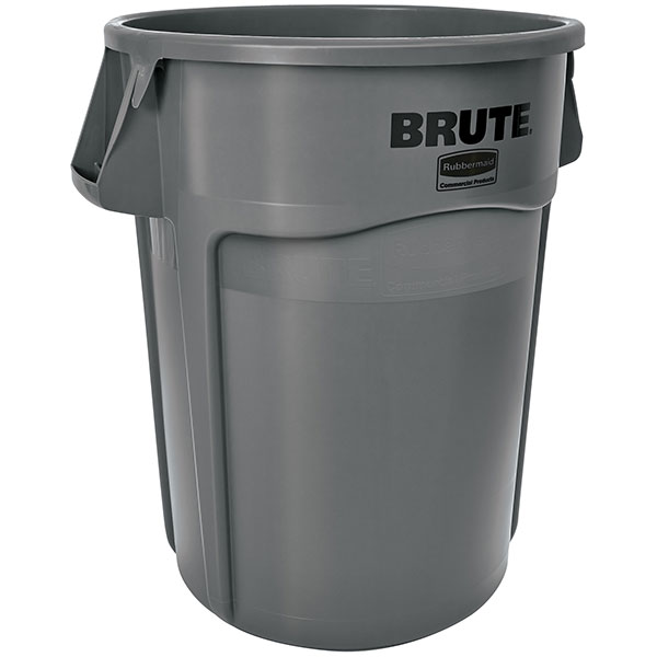 Rubbermaid Brute Utility Waste Container, 44 gal, Gray