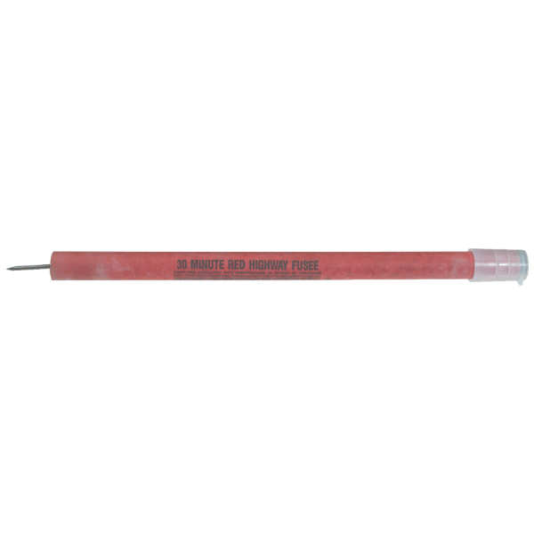 Red Safety Flares, 30-Minute w/ Spike, 36/Case