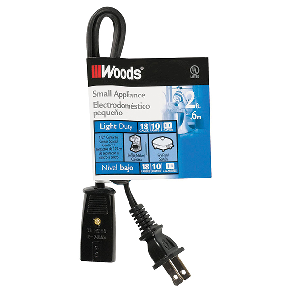 Replacement Small HPN Appliance Cord, 2'