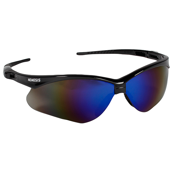 Jackson* V30 Nemesis* Eyewear, Black Frame, Blue Mirror Lens