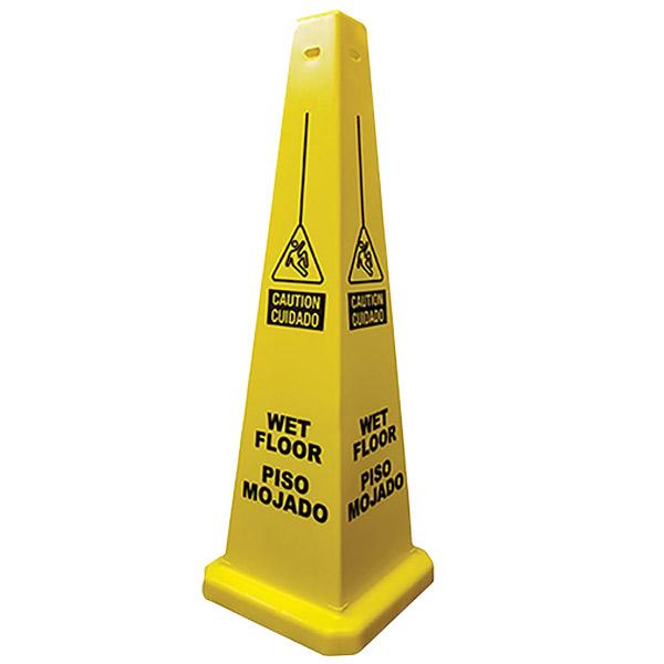 Wet Floor Lamba Cone (Bilingual)