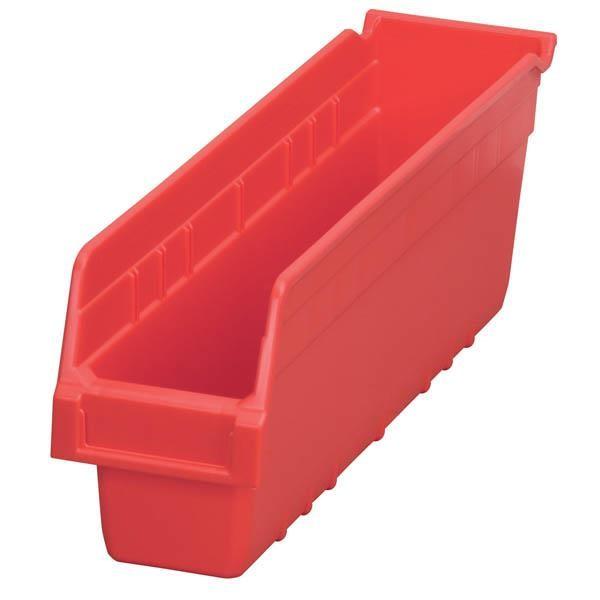 """Akro-Mils® ShelfMax® Bin, 17 7/8""""L x 6""""H x 4 1/8""""W, Red"""