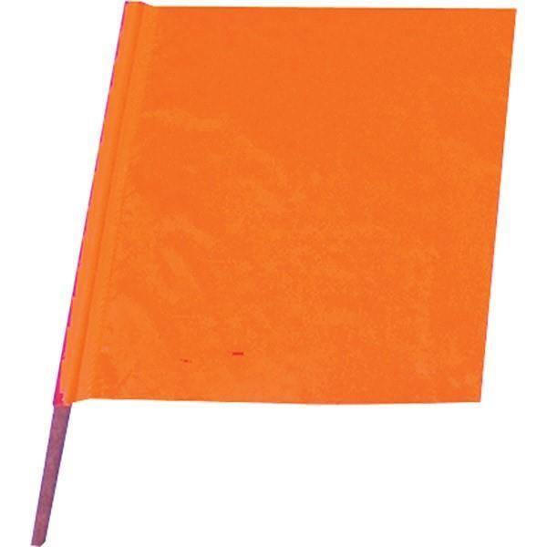"All-Weather Traffic Flag, 18"" x 18"" w/ 30"" Dowel"