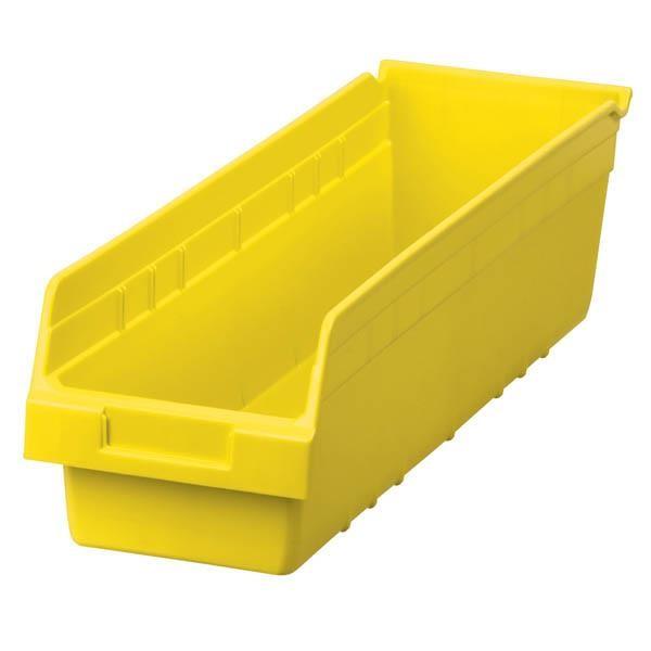 "Akro-Mils® ShelfMax® Bin, 23 5/8""L x 6""H x 6 5/8""W, Yellow"