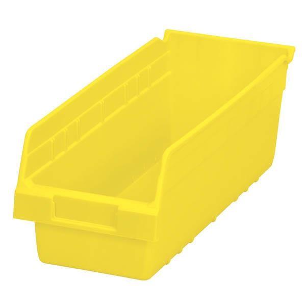"Akro-Mils® ShelfMax® Bin, 17 7/8""L x 6""H x 6 5/8""W, Yellow"