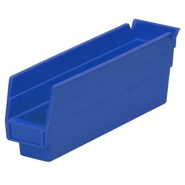 """Akro-Mils® Shelf Bin, 11 5/8""""L x 4""""H x 2 3/4""""W, Blue"""