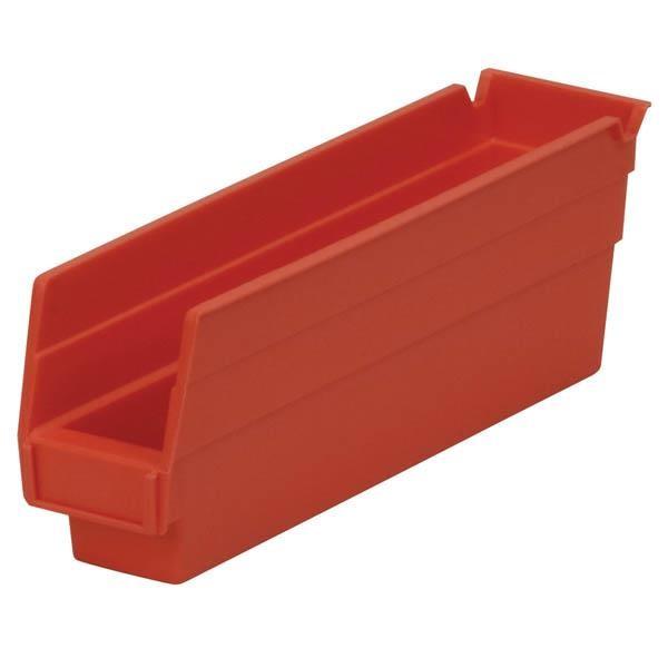 "Akro-Mils® Shelf Bin, 11 5/8""L x 4""H x 2 3/4""W, Red"