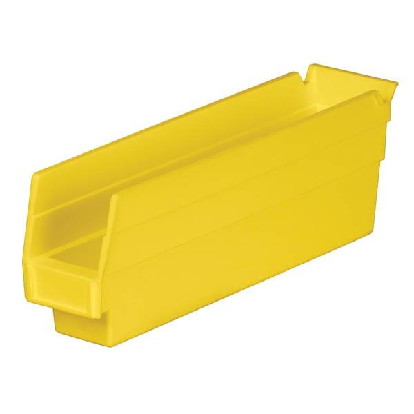 "Akro-Mils® Shelf Bin, 11 5/8""L x 4""H x 2 3/4""W, Yellow"