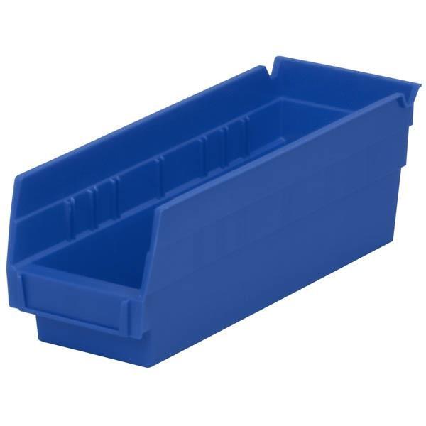 """Akro-Mils® Shelf Bin, 11 5/8""""L x 4""""H x 4 1/8""""W, Blue"""