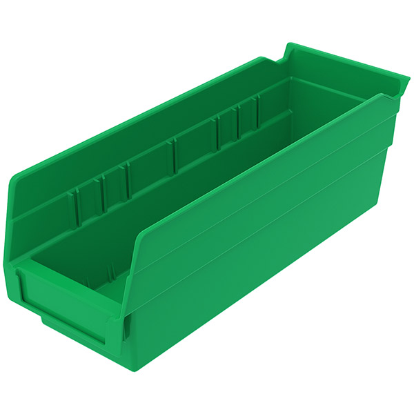 "Akro-Mils® Shelf Bin, 11 5/8""L x 4""H x 4 1/8""W, Green"