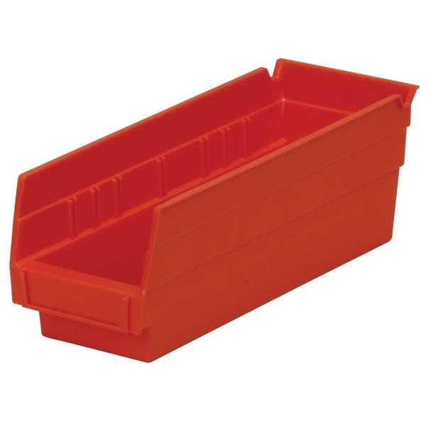 "Akro-Mils® Shelf Bin, 11 5/8""L x 4""H x 4 1/8""W, Red"