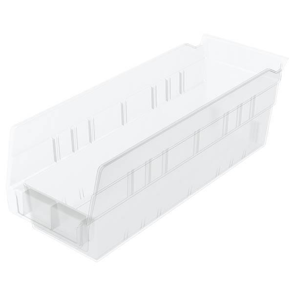 "Akro-Mils® Shelf Bin, 11 5/8""L x 4""H x 4 1/8""W, Clear"