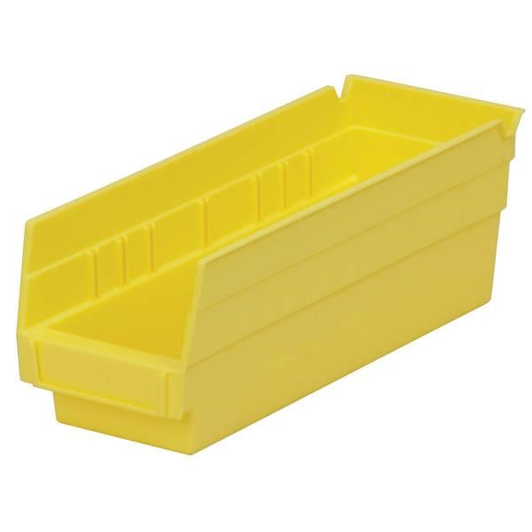 "Akro-Mils® Shelf Bin, 11 5/8""L x 4""H x 4 1/8""W, Yellow"