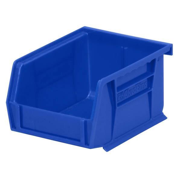 """Akro-Mils® AkroBins® Standard Storage Bin, 5 3/8""""L x 3""""H x 4 1/8""""W, Blue"""