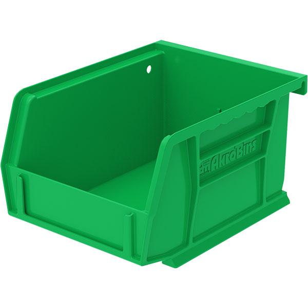 """Akro-Mils® AkroBins® Standard Storage Bin, 5 3/8""""L x 3""""H x 4 1/8""""W, Green"""