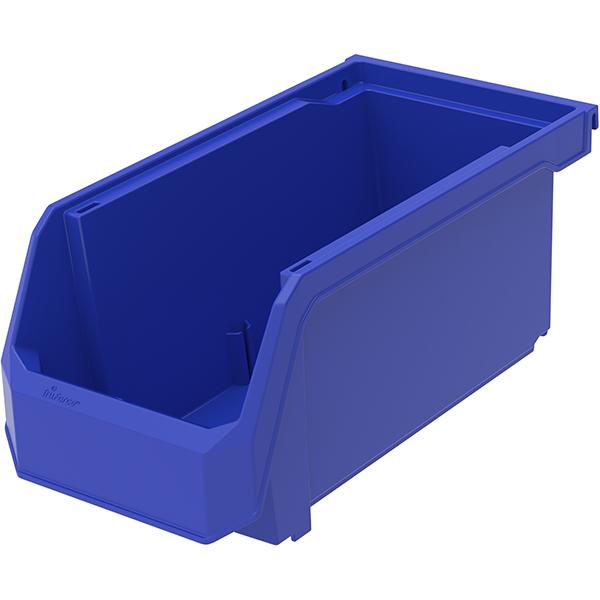 """TruForceâ""""¢ Plastic Bin, 10 7/8""""L x 5""""H x 5 1/2""""W, Blue"""