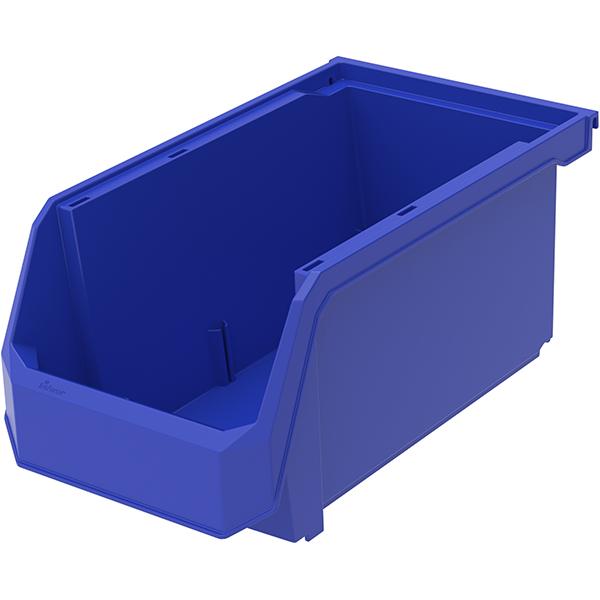 """TruForceâ""""¢ Plastic Bin, 14 3/4"""" x 7""""H x 8 1/4""""W, Blue"""