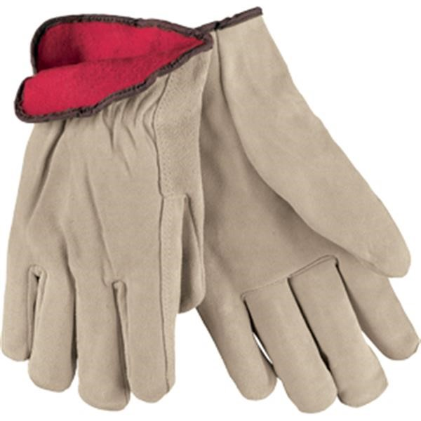 MCR Safety® Insulated Premium Grade Drivers, Split Cow, X-Large, Tan