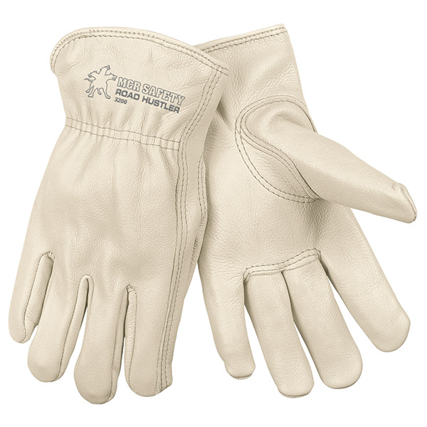MCR Safety® Road Hustler Cow Leather Drivers, Large