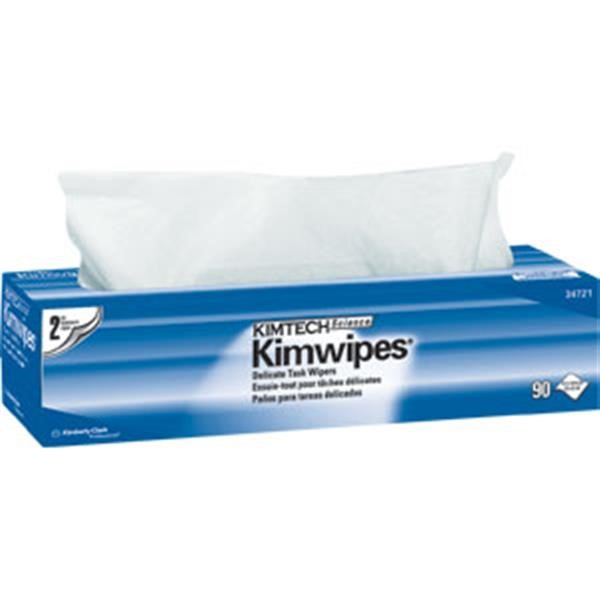 "Kimtech Science* Kimwipes* Wipers, 2-Ply, 14 11/16"" x 16 19/32"", 15 Boxes/90 ea"