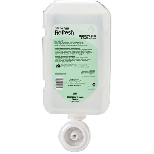 "Deb Group Refreshâ""¢ Sensitive Skin Foam Hand Wash, 1 L Refills, 4/Case"