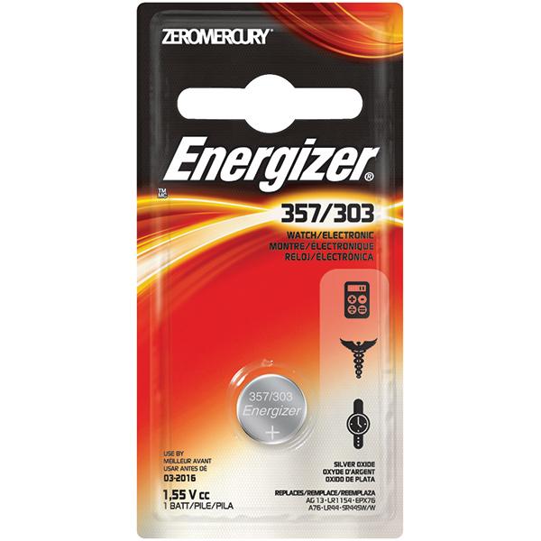 Energizer® 357 Batteries, 3/Pkg