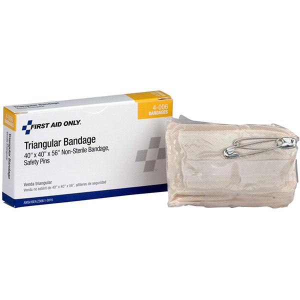 """Non-Sterile Triangular Bandage (Unitized Refill), 40"""" x 40"""" x 56"""""""