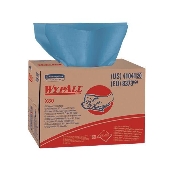 WypAll* X80 Towels, Brag Box, Blue, 160/Box