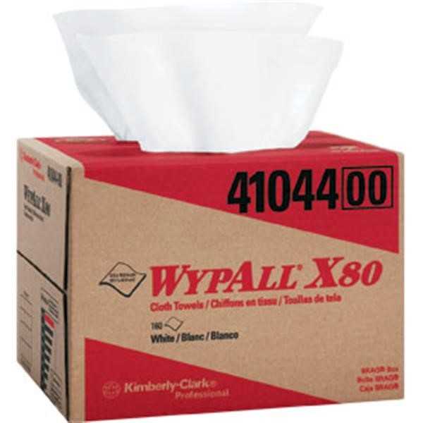 WypAll* X80 Towels, Brag Box, White, 160/Box
