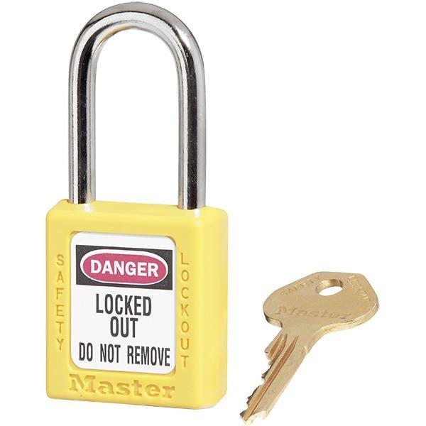 Master Lock® 410 Zenex™ Thermoplastic Safety Padlock, Yellow