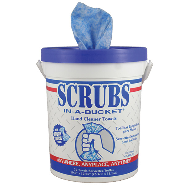 Scrubs® Hand Cleaner Towels, 6 Containers/72 ea