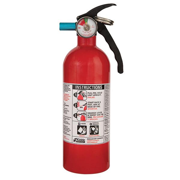 Kidde 2 lb BC Automotive FC5 Extinguisher w/ Metal Valve & Plastic Strap Bracket (Disposable)