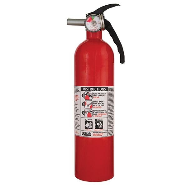 Kidde 2.75 lb BC Automotive FC10 Extinguisher w/ Metal Vale, Plastic Bracket, & Metal Strap (Disposable)