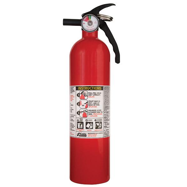 Kidde 2.5 lb ABC Automotive FC110 Extinguisher w/ Metal Valve & Plastic Strap Bracket (Disposable)