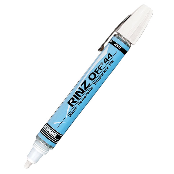 Rinz Off® 44 Broad Tip Temporary Markers, White