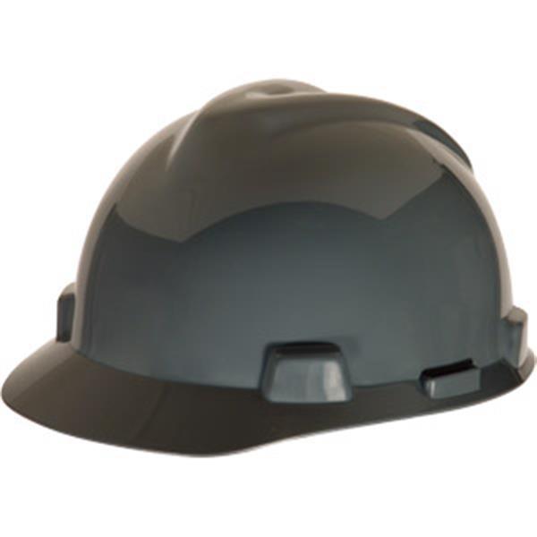 MSA V-Gard® Standard Slotted Cap w/ Staz-On® Suspension, Gray