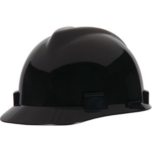 MSA V-Gard® Standard Slotted Cap w/ Staz-On® Suspension, Black