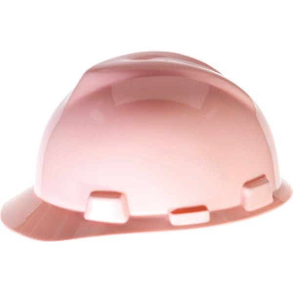 MSA V-Gard® Standard Slotted Cap w/ Staz-On® Suspension, Pink
