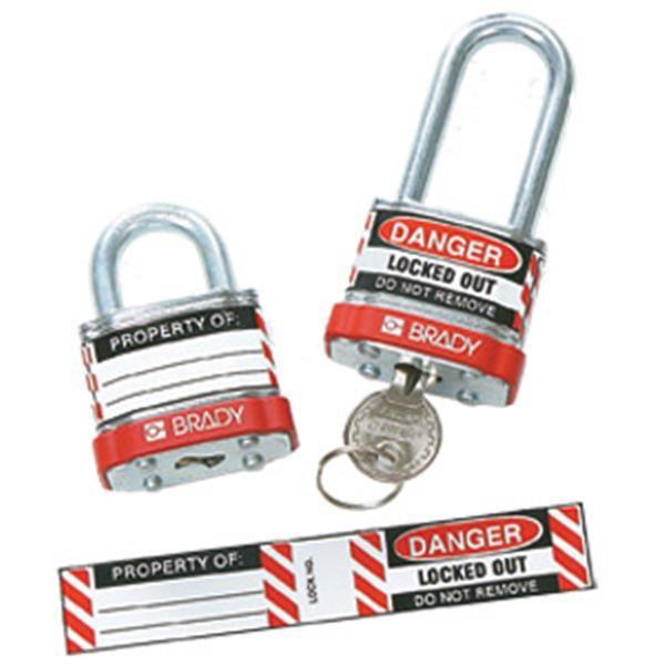 """Brady® Padlock Lockout Labels, 3/4"""" x 4 1/2"""""""