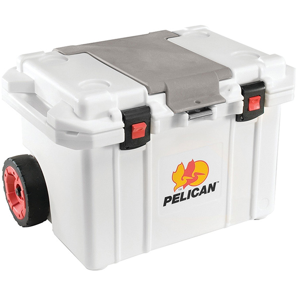 "Pelicanâ""¢ Elite Cooler (Wheeled) w/ Trolley Handle, 55 qt, White"