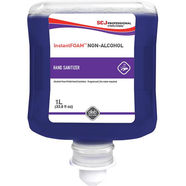 Deb Group InstantFoam® Non-Alcohol Pure Hand Sanitizer, 1 L Refills, 6/Case