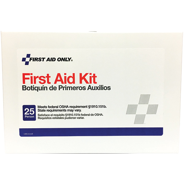 25-Person First Aid Kit w/ Hangers